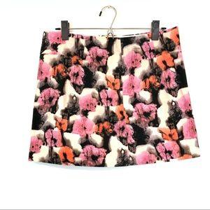 J Crew | Watercolor Floral Mini Skirt Womens Sz 6